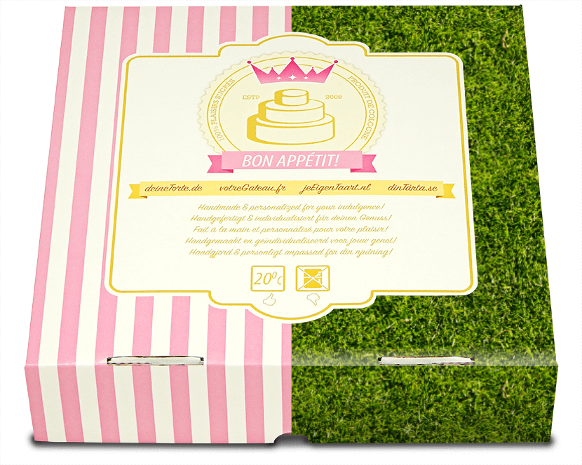 gröna tårtförpackningar