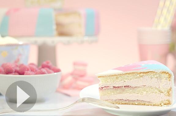 Tårta med Halloncreme