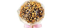 Mörk choklad med rostade och hackade hasselnötter
