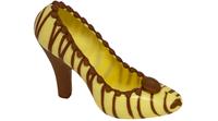 Vit sko med bruna ränder