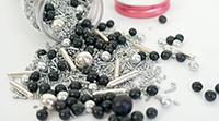 Sockerdekoration Silver och svart