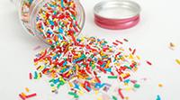 Sockerdekoration färgglada