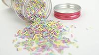 Sockerdekoration Pastell
