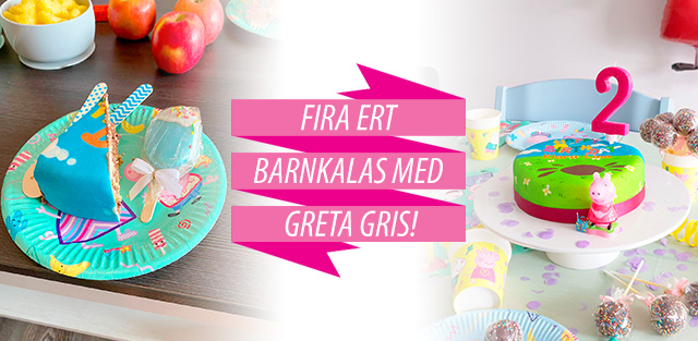 Greta Gris på tårta