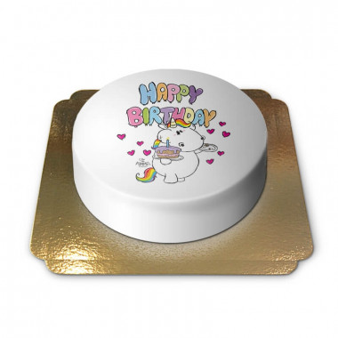 Happy Birthday Chubby Unicorn