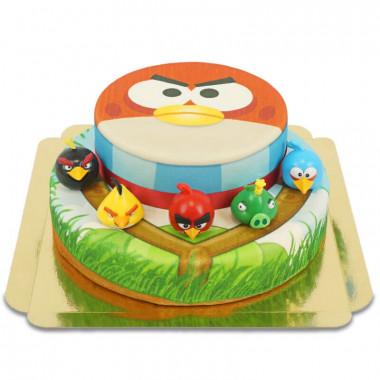 Angry Birds på tvåvåningstårta