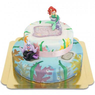 Ariel på tvåvåningstårta
