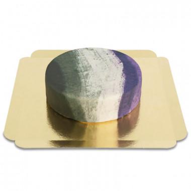 Tårta med asexuella flaggan
