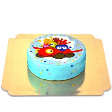 Babblarna tårta, turkosprickig