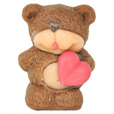 Marsipanbjörn med hjärta