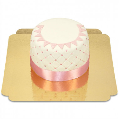 Happy Birthday Deluxetårta, rosa