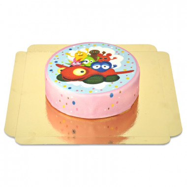 Babblarna tårta med bilen tut