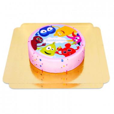 Babblarna tårta, rosa