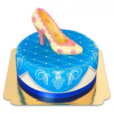 Blå deluxetårta med chokladsko