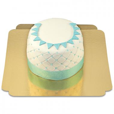 Happy Birthday Deluxetårta, blå