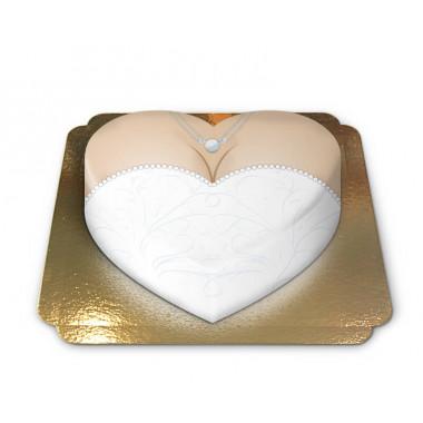 Brudtårta i hjärtform
