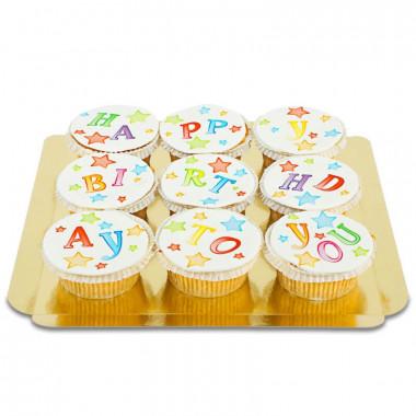 Födelsedag-Cupcakes