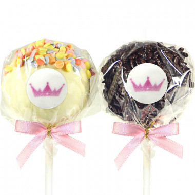 Cake-Pops med Logotyp, Red Velvet & Jordnötssmör (12 st)