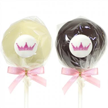 Cake-Pops med Logotyp, Mörk- & Vit Choklad (12 st)