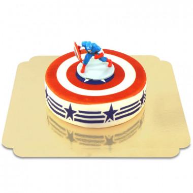 Captain America på Stars-and-Stripestårta