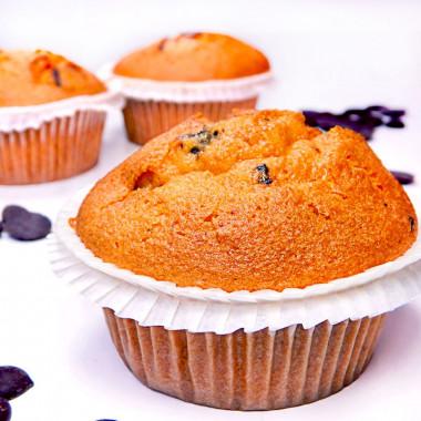 Muffins chocolate chip, 9 st