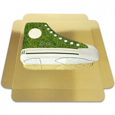 Gräsmönstrad Sneakertårta