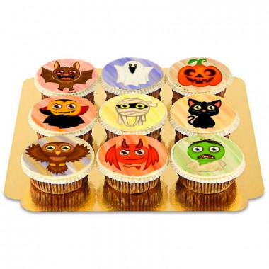Cupcakes med halloween-varelser