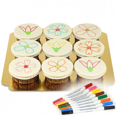 Cupcakes med tårtpennor