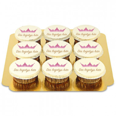 Cupcakes med logotyp (9 st)