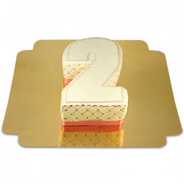 Deluxe siffertårta, valfri färg