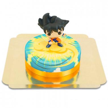 Son Goku från Dragon Ball på tårta