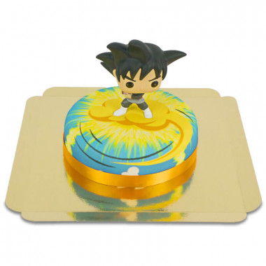Goku Black från Dragon Ball på tårta