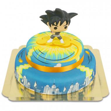 Goku Black på Nimbus tvåvåningstårta