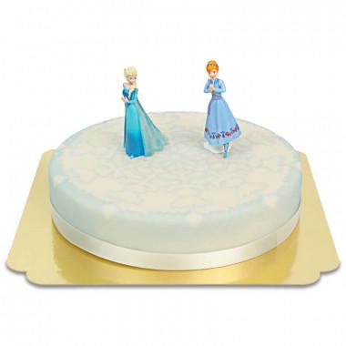 Elsa och Anna på istårta