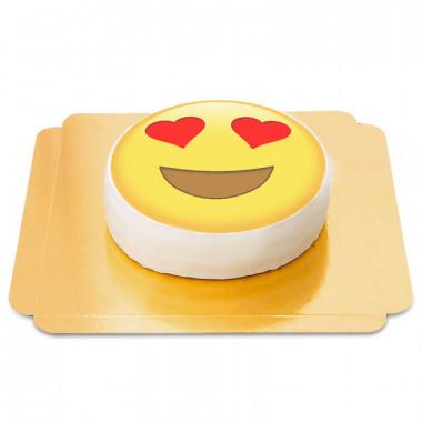 Emojitårta med hjärtögon