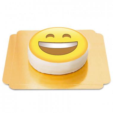 Skrattande emojitårta