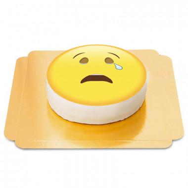 Gråtande emojitårta