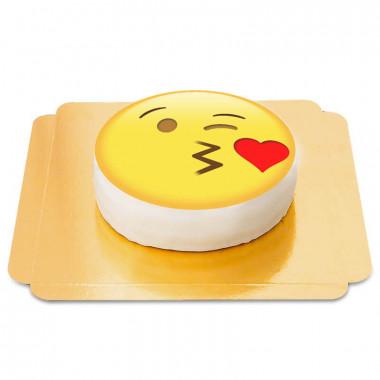Emojitårta med slängkyss