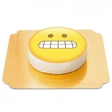 Grimaserande emojitårta