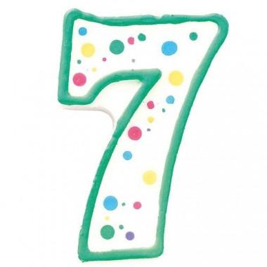 Grönt sifferljus nr 7