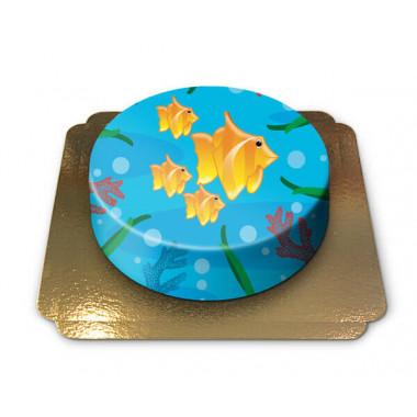 Havstårta med fiskar