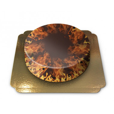 Flammande eld