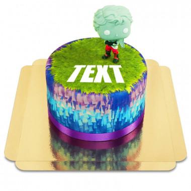 Fortnite figur på tårta