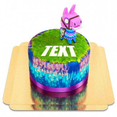 Fortnite-Lama på tårta
