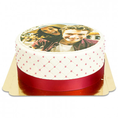 Deluxe fototårta- storlek M (30 bitar)