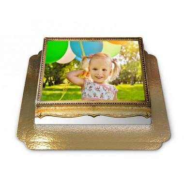 Fototårta med guldram