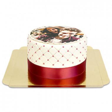Deluxe fototårta- storlek S (20 bitar)