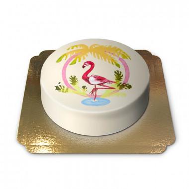 Gul Flamingo-Tårta
