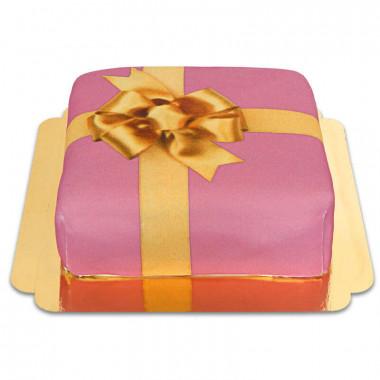 Presenttårta, rosa