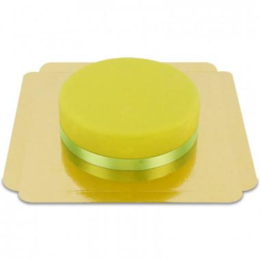 Grön tårta med silkesband